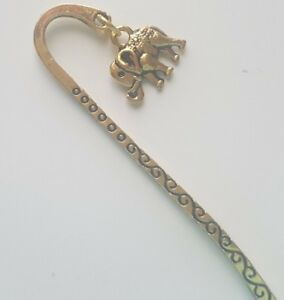 Tibetan Gold Bookmark with Elephant Charm Gift Wrapped