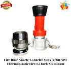 Fire Hose Nozzle 1.5 Inch SAFBY NPSH/NPT Thermoplastic Fire 1.5 Inch Aluminum