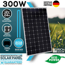 300W Solar Panel 12V/24V Monocrystalline Module House Caravan Boat Off Grid Use