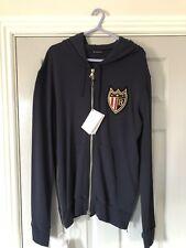Balmain Paris Coats Badge Navy Full Zip Hoodie Large Bnwts
