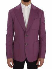 NEW $3200 DOLCE & GABBANA Blazer Jacket Purple Cashmere Slim Fit IT46 / US36 / S