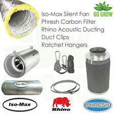 Iso Max Silent Air Flow Kits 5m/10m Standard & High Power Fans