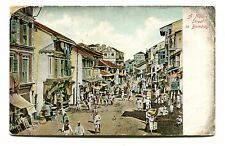 Vintage Postcard INDIA BOMBAY Mumbai Native Street 1909