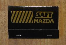 Pochette d'allumettes complète Saft Mazda, années 1970-1980