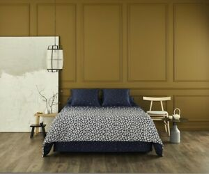 NUIT BLANCHE BY YVES DELORME, FRANCE- ORGANIC COTTON SATEEN FLAT SHEET