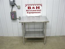 "John Boos 36"" x 24"" Stainless Steel Heavy Duty Work Table w/ Under Shelf 3' x 2'"