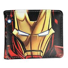 Marvel Iron Man Avengers Wallet Black Cards Notes Photo