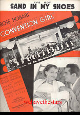 "CONVENTION GIRL Sheet Music ""(I've Got) Sand In My Shoes"" Rose Hobart PRE-CODE"