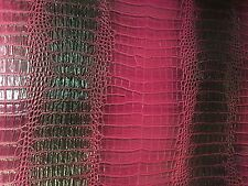 """Black Pink Two Toned Gator Vinyl Fabric - Sold By The Yard 52"""" / 54"""""""