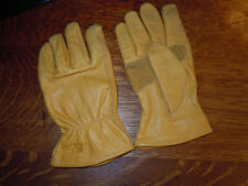 """"""" WELLS LAMONT """" 100% GENUINE SOFT COWHIDE LEATHER WORK GLOVES - SIZE M"""