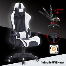 IntimaTe WM Heart Racing Gaming Computer Office Chair - White