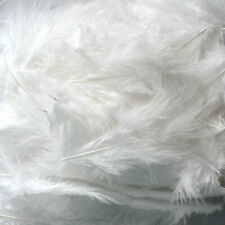 200 X WHITE Fluffy Marabou Feathers Card Making Crafts Embellishments Trimming