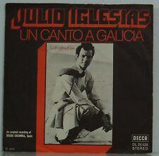 """7"""" JULIO IGLESIAS ONU Canto Galicia/como el ALMO Al Camino DECCA 1972"""