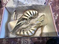 Womens Debenhams Size 4 Satin Cream Wedding Shoes Heels