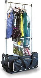 "Travolution 23"" Wheeled Duffel Garment Rack Black Gray Dance Travel Bag"