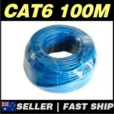 1x 100m Cat 6 Cat6 Blue Solid Core Ethernet Network LAN CCTV Camera Phone Cable