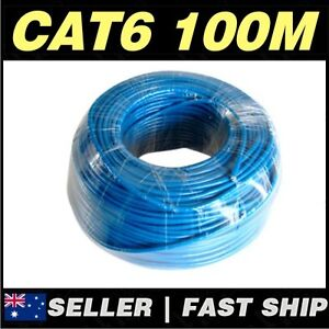 100m Cat 6 Cat6 Cat6E Blue Network LAN Cable Home TV box Foxtel PS4 Xbox Router