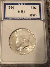 JFK 1964 Half Dollar MS68-UNC Coins