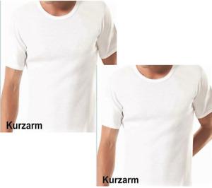 4 Stück Kurzarmhemd Herren Unterhemd Weiss 1/2 Arm Feinripp Baumwolle  Gr. 6-10