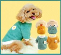 Classic Small Dog Clothes Pet Puppy Winter Warm Vest Fleece Cat Hooded XS-XL