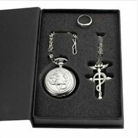 Cosplay Full metal Alchemist Edward Elric Costume Pocket Watch Necklace Ring