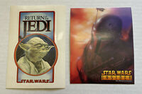 Lot of 2 Star Wars Return of the Jedi Yoda and Boba Fett Fan Club Stickers