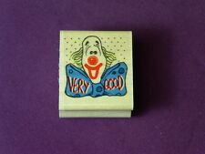 Very Good Clown 910042 Red Nose Smile Happy  Party Mask Fun wood Rubber Stamp