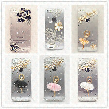 iPhone 5S 5 4S 4 Case Diamond Bling Crystal Rhinestone Cover Transparent Clear