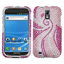 Pink Tail Crystal Daimond BLING Hard Case Cover T-Mobile Samsung Galaxy S II 2