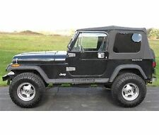 1976-1995 Jeep Wrangler & CJ7 Soft Top Kit for Jeeps w/ Full Doors Black Tinted