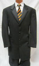 42R Black Perry Ellis Long Tuxedo Jacket Frock Coat Steampunk Dickens Victorian