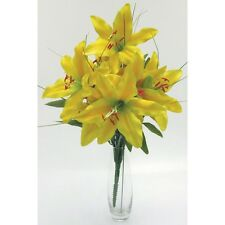 Artificial silk flowers Tiger lily lilies yellow 40cm