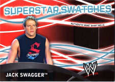 WWE Jack Swagger Topps 2011 Superstar Swatches Event Used Shirt Relic Card FD30