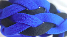 NEW! Royal Blue Black Grippy Band Headband Hair Sport Soccer Softball Stretchy