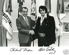 Elvis Presley Richard Nixon White House Autograph 11x14 Photo Picture Poster #n1