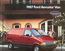 1987 Ford Aerostar Van Dealer Brochure