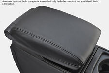 black stitch FITS VOLVO V70 XC70 00-07 LEATHER ARMREST COVER ONLY