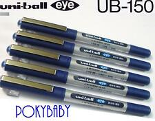 free shipping 30 pcs UNI-BALL UB-150 0.5mm roller ball pen BLUE ink Waterproof T