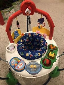 Fisher Price Laugh N Learn Jumperoo Fun Interactive Play Baby Bouncer RARE
