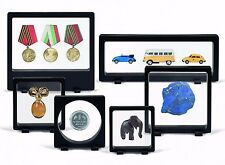 6 Assorted Magic Frame Display Stand Floating 3D Rock Mineral Fossil Holder Case