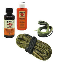2-Pack .357 to 9mm Bore Cleaning Snake with Hoppes Cleaning Solvent and Lube