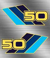 85' 1985 Suzuki LT50 Quadrunner 2pc FUEL TANK vintage decal stickers