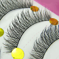 10 Pairs Makeup Beauty False Eyelashes Extension Long Thick Cross Eye Lashes New