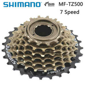 Shimano 7 Speed MF-TZ500-7 Index 14-28 Freewheel Block ScrewOn Cassette Cog MTB