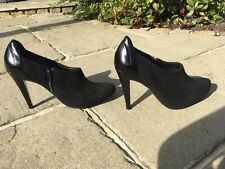 Beautiful High Insolia Patent Leather/Suede Autograph At M&S Shoe Boots 7 BNWT