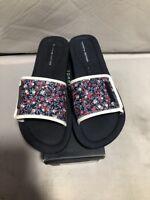 Women's Shoes Tommy Hilfiger MYSHA Flip Flop Slide Sandals Navy Multicolored 7M