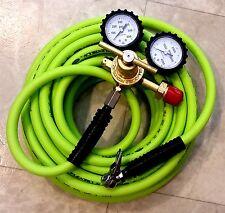Dual-Purpose Nitrogen Regulator Kit- HVAC -or- *DIY* tire inflation [50-ft hose]