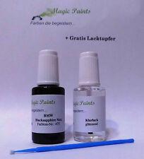 Lápiz de pintura set bmw 475 Black Sapphire negro metálico + barniz transparente, 2x20ml