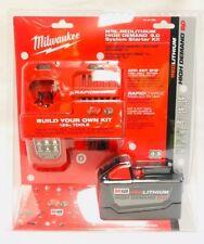 Milwaukee M18 REDLITHIUM HD 18V 9.0 Ah Li-Ion Battery Starter Kit 48-59-1890 NEW