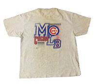 VTG 90's Chicago Cubs Men's Single Stitch T Shirt Size XL